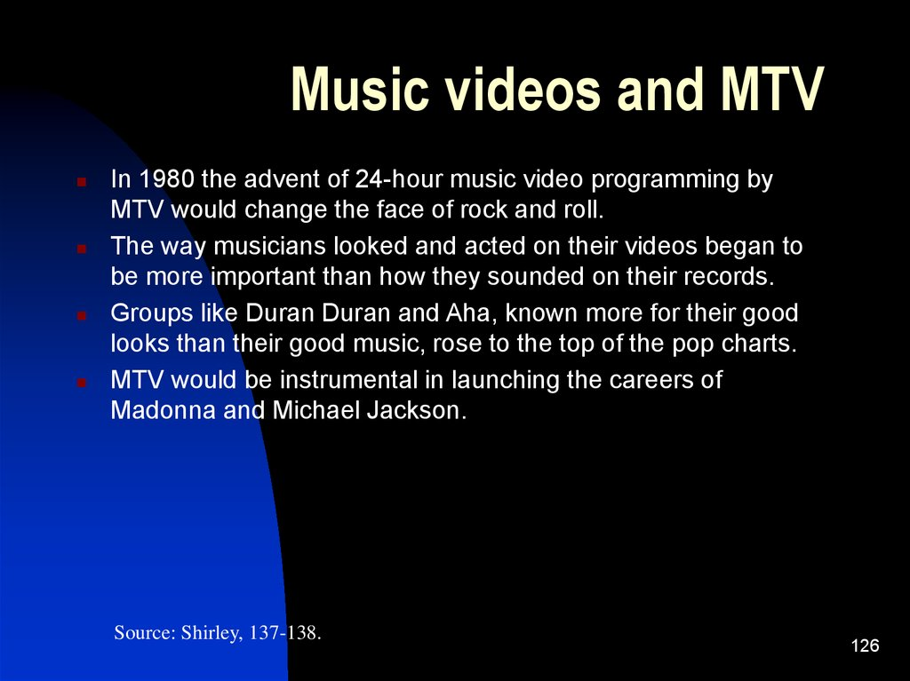 Music videos and MTV