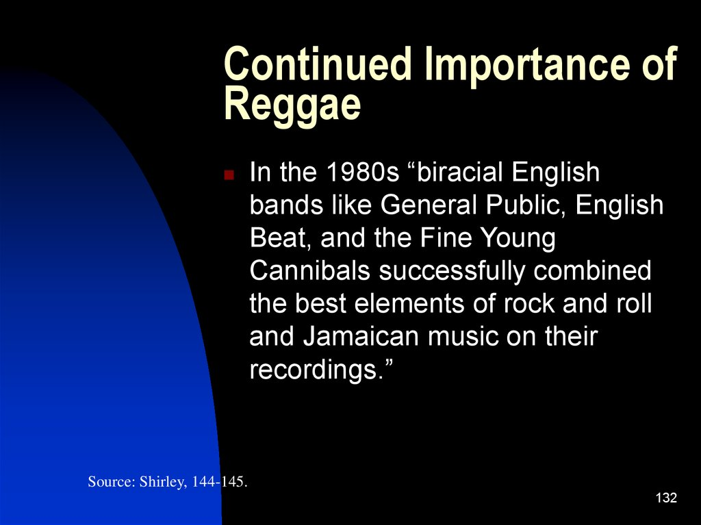 Continued Importance of Reggae