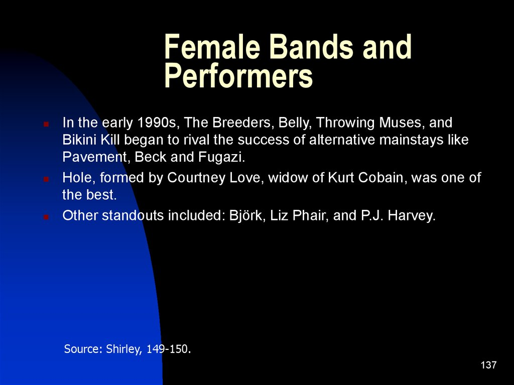 Female Bands and Performers