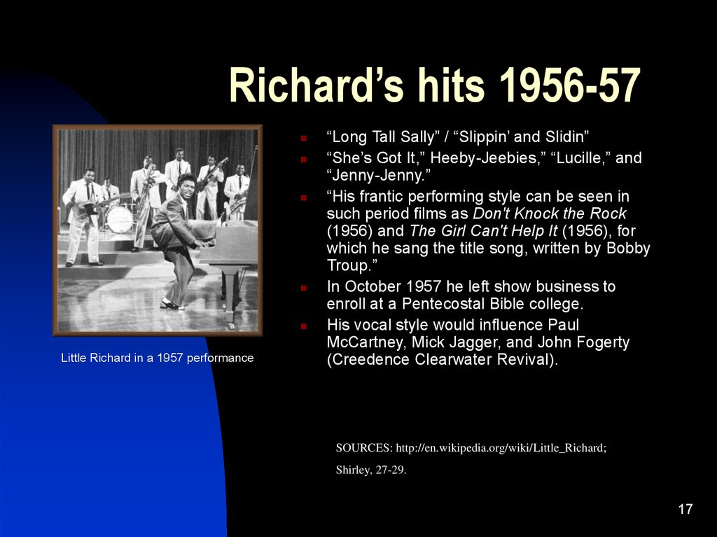 Richard's hits 1956-57