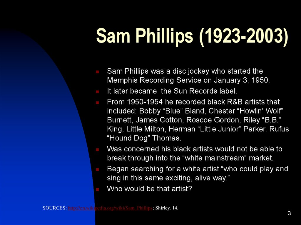 Sam Phillips (1923-2003)