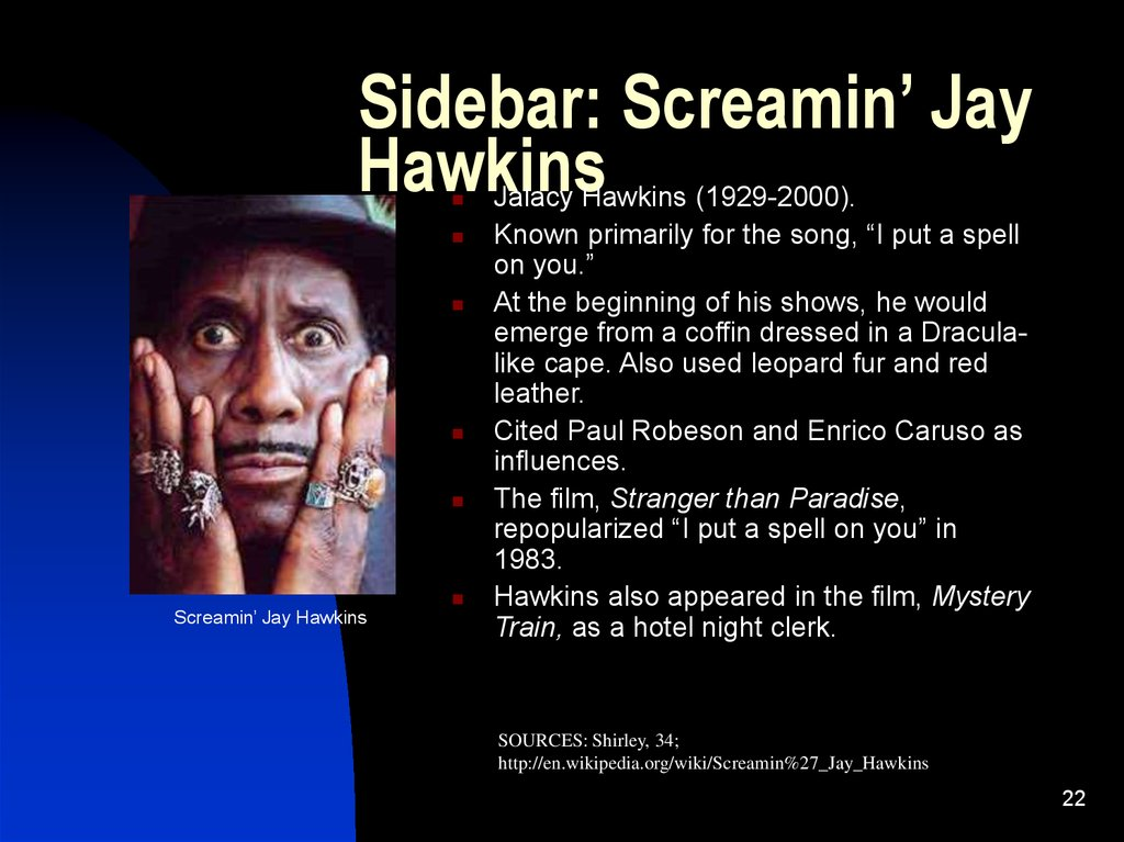 Sidebar: Screamin' Jay Hawkins