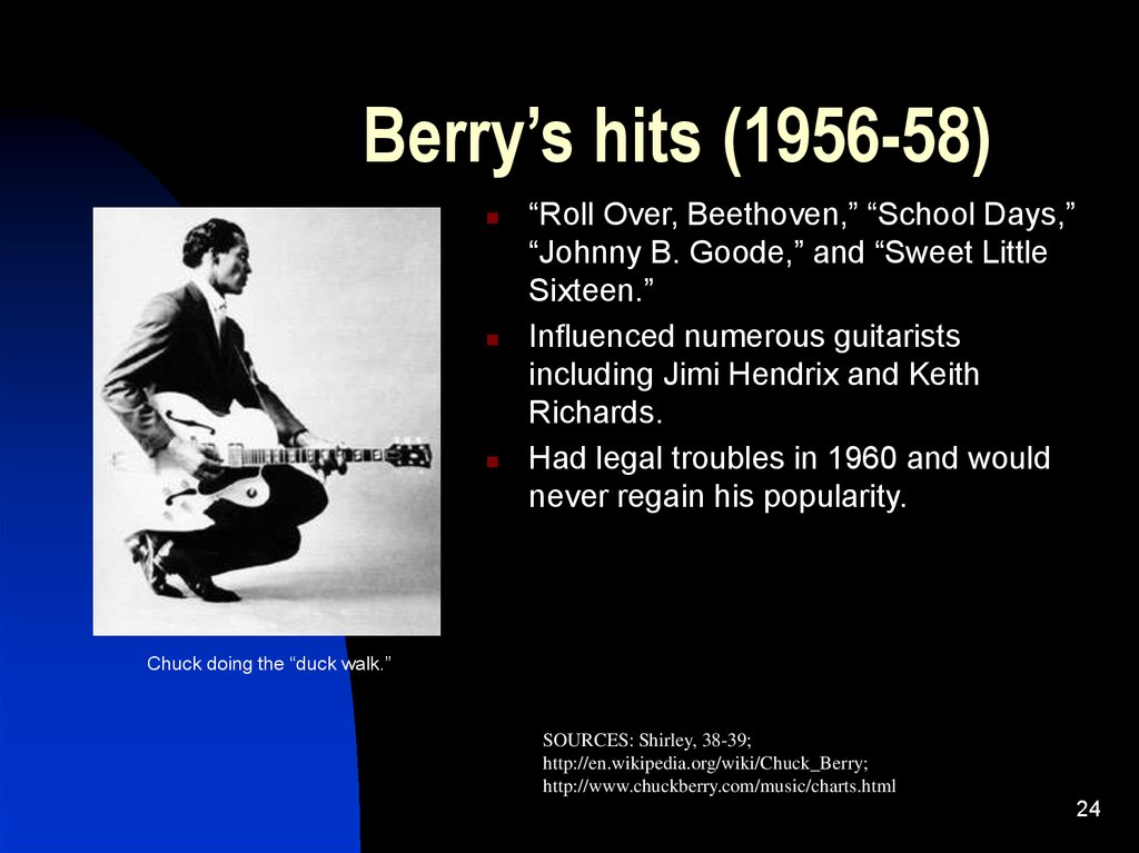 Berry's hits (1956-58)