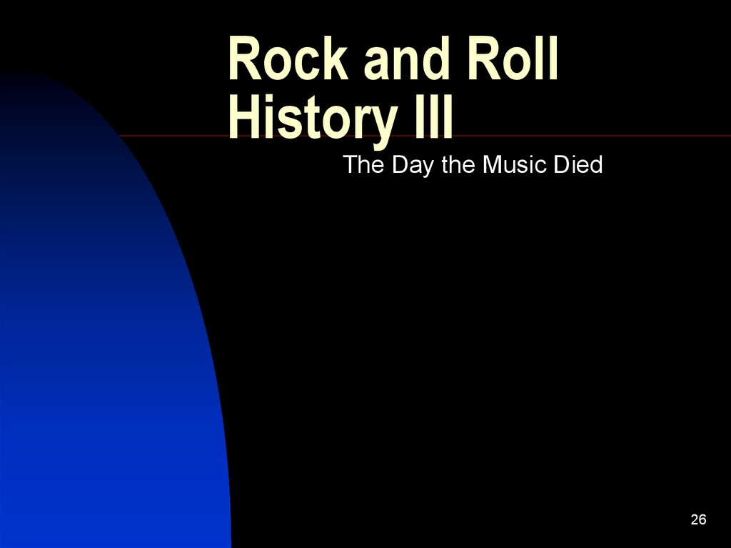 Rock and Roll History III