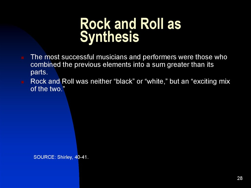 Rock and Roll as Synthesis