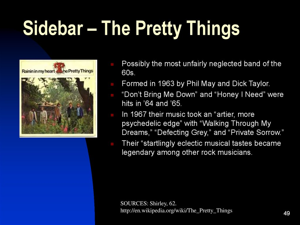 Sidebar – The Pretty Things