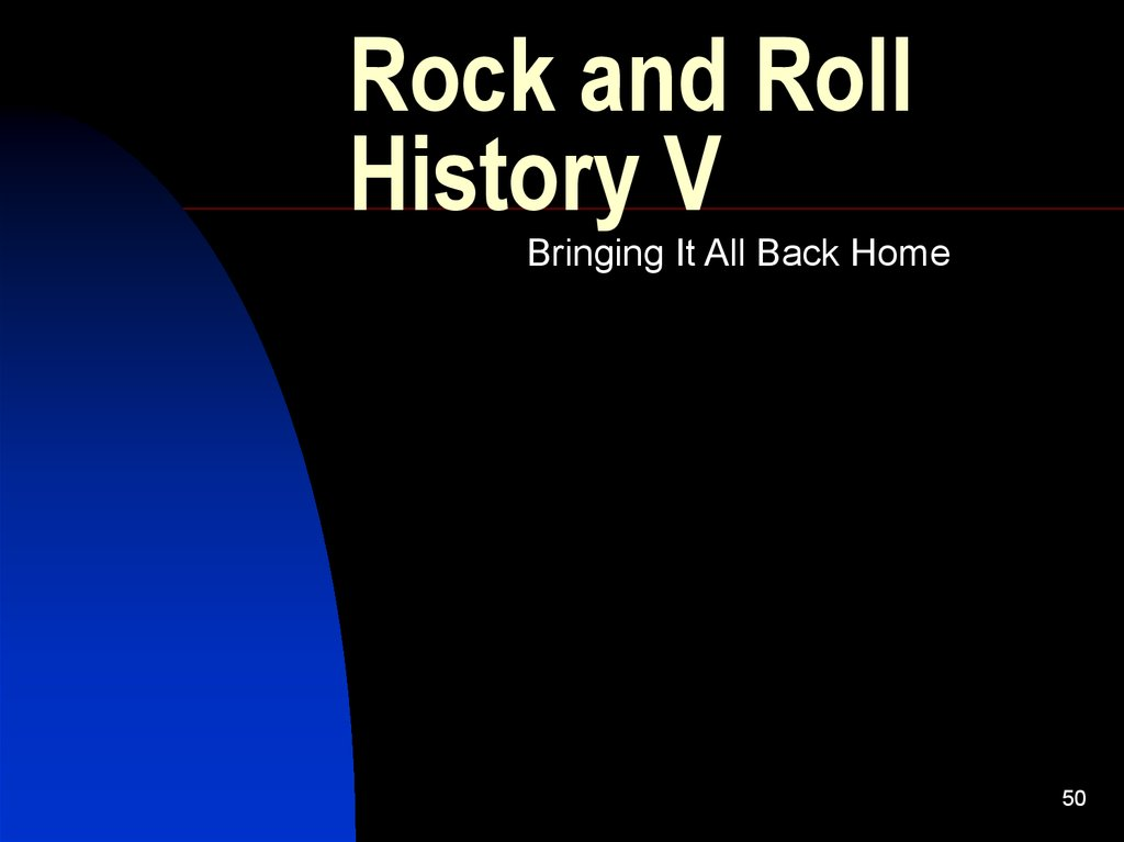 Rock and Roll History V
