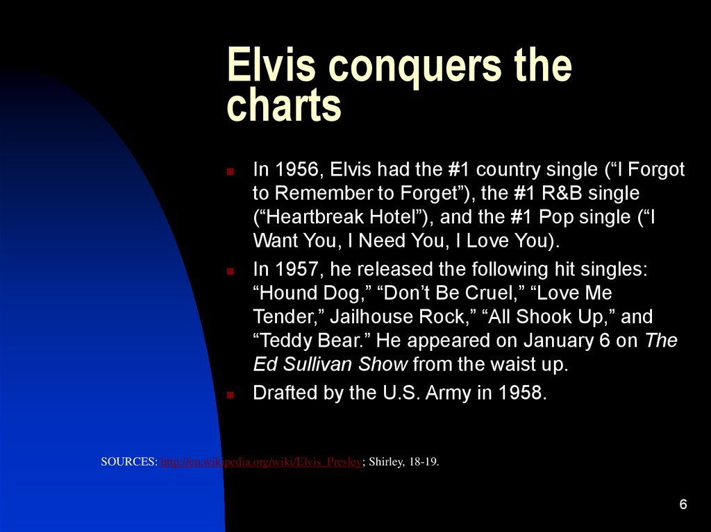 Elvis conquers the charts