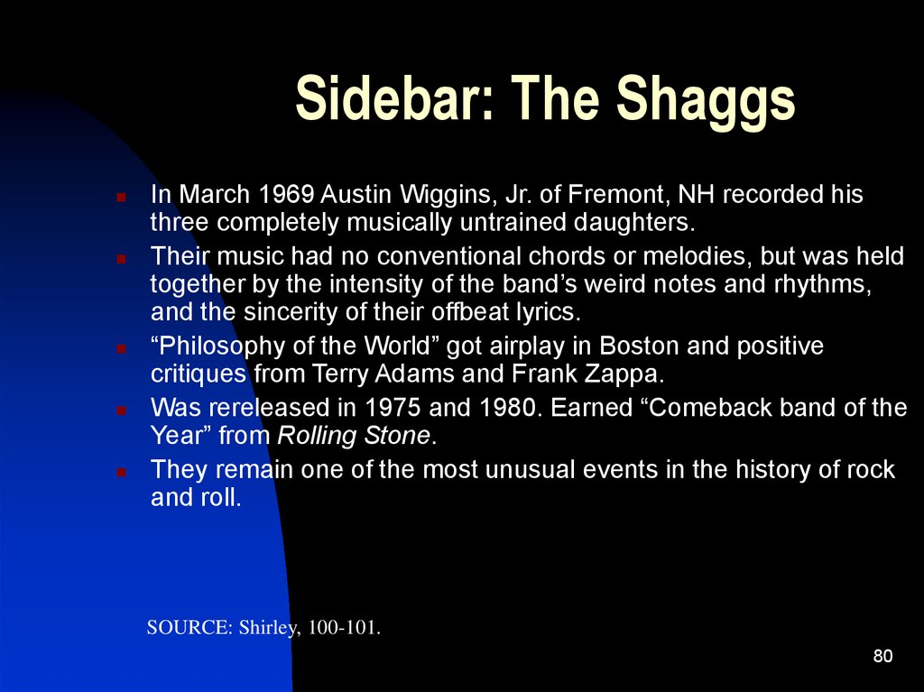 Sidebar: The Shaggs