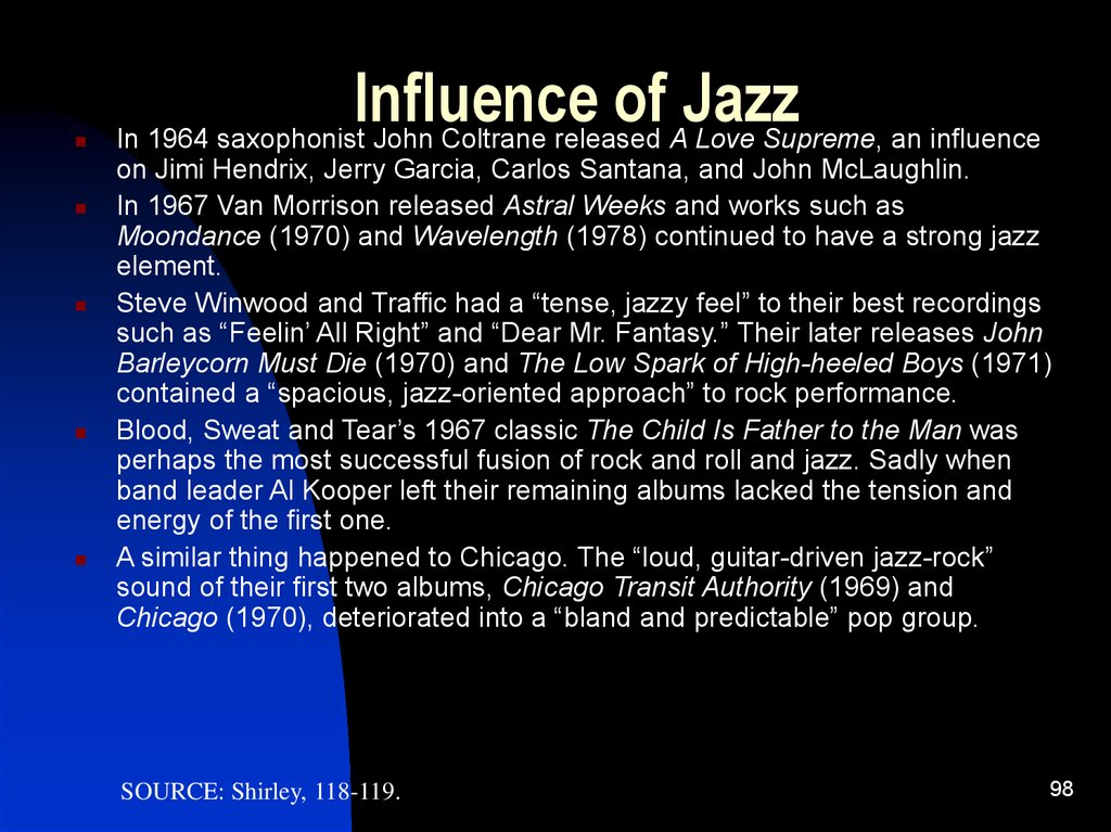 Influence of Jazz