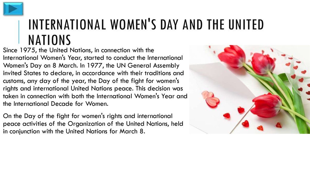 International Women's Day and the United Nations