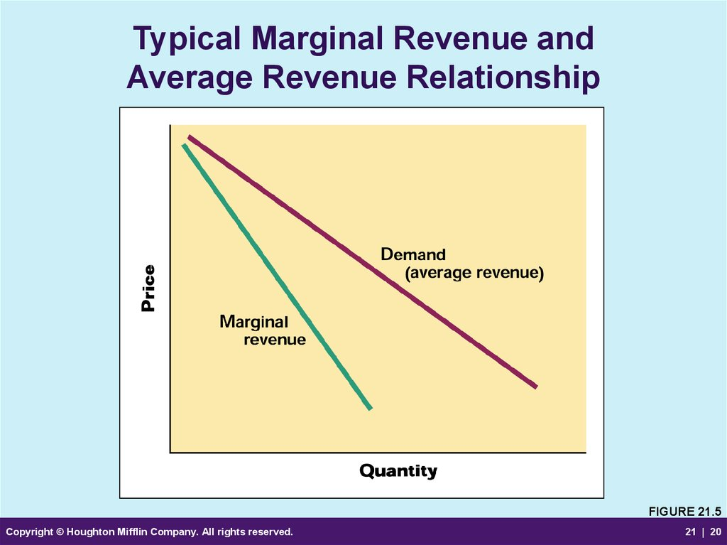 Typical Marginal Revenue and Average Revenue Relationship