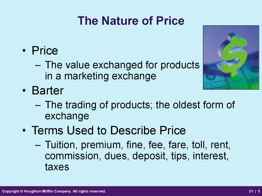 The Nature of Price