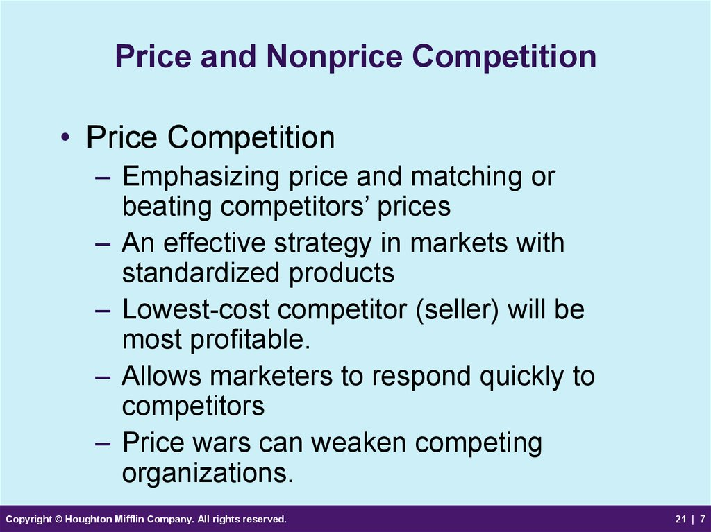 Price and Nonprice Competition