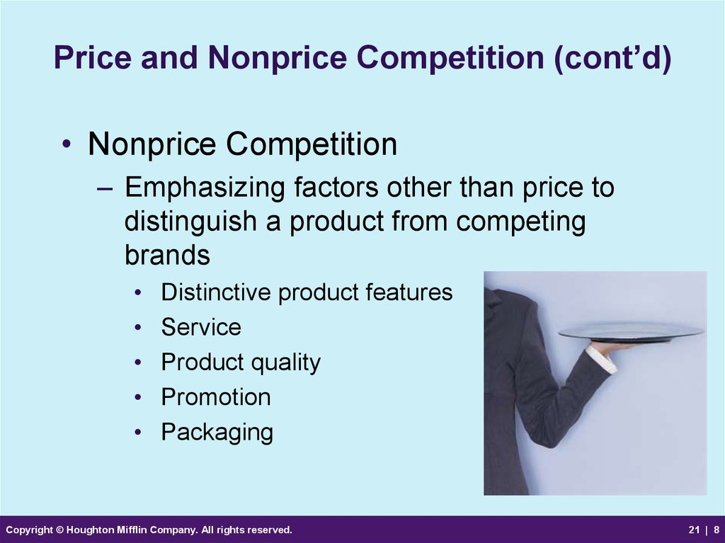 Price and Nonprice Competition (cont'd)