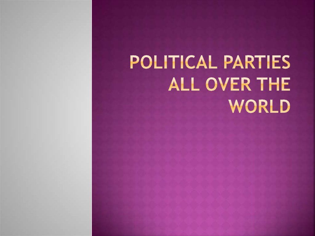 Political Parties All over the world
