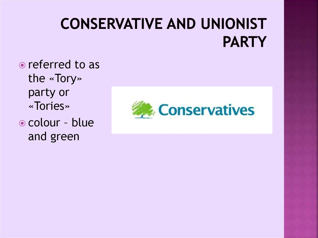 Conservative and Unionist Party