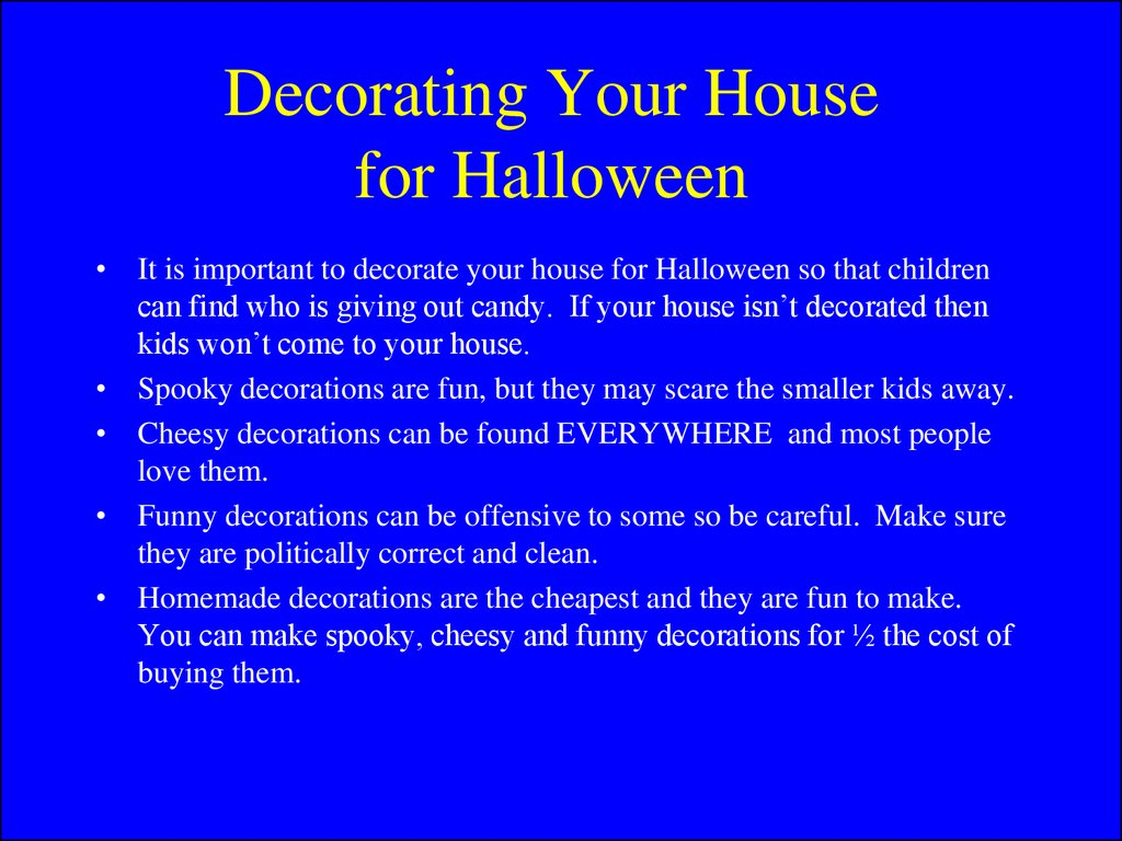 Decorating Your House for Halloween