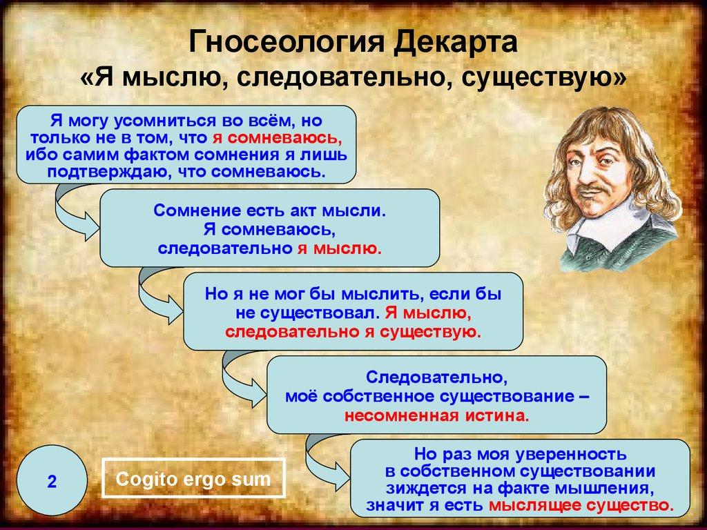 descartes epistemology
