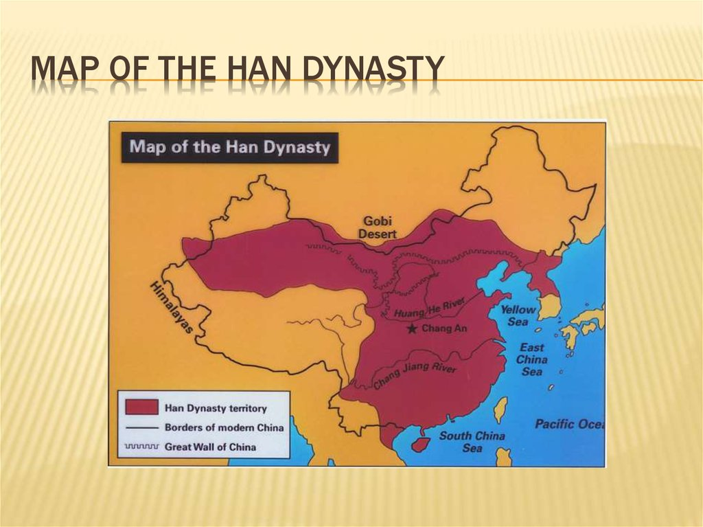 Map of the han dynasty
