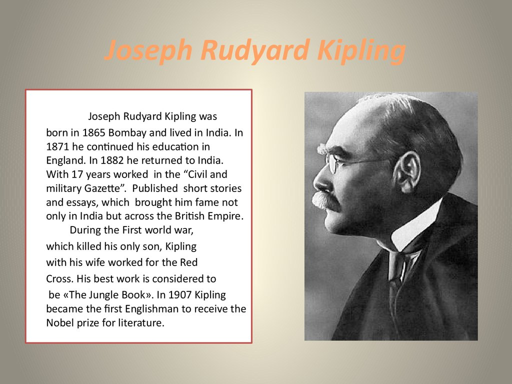 rudyard kiplings troubles of the empire english literature essay Bard of empire rudyard kipling in mumbai in 1865 photograph: culture club/getty images the end of december 2015 marked the 150th anniversary of rudyard kipling's birth i suppose you might.