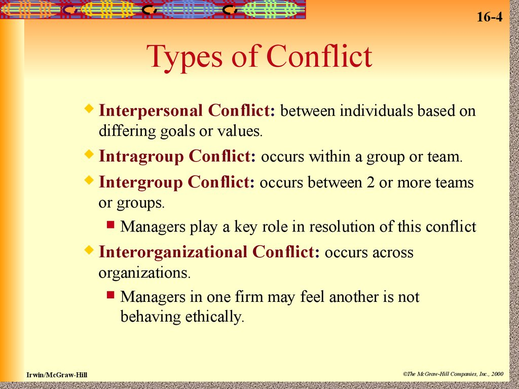 examples of interperonal conflict scenarios in the workplace Workplace conflicts are very common there are very few offices where all the employees get along because of this, conflict resolution is a necessary component of the workplace, and those in a leadership position must be skilled in conflict resolution techniques.