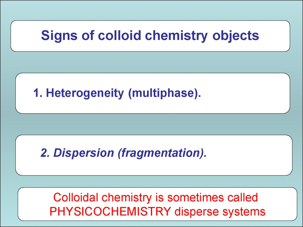 Chemistry. Dispersed systems - what is it 21