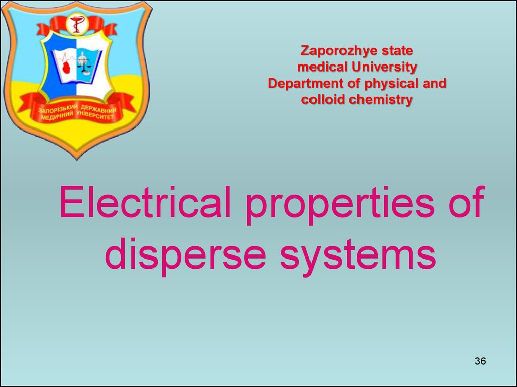 Electrical properties of disperse systems