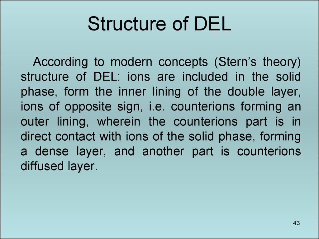 Structure of DEL
