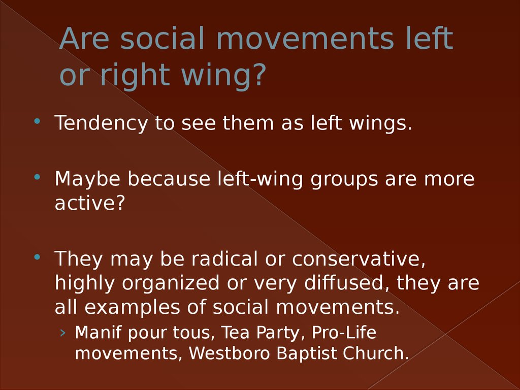 Are social movements left or right wing?