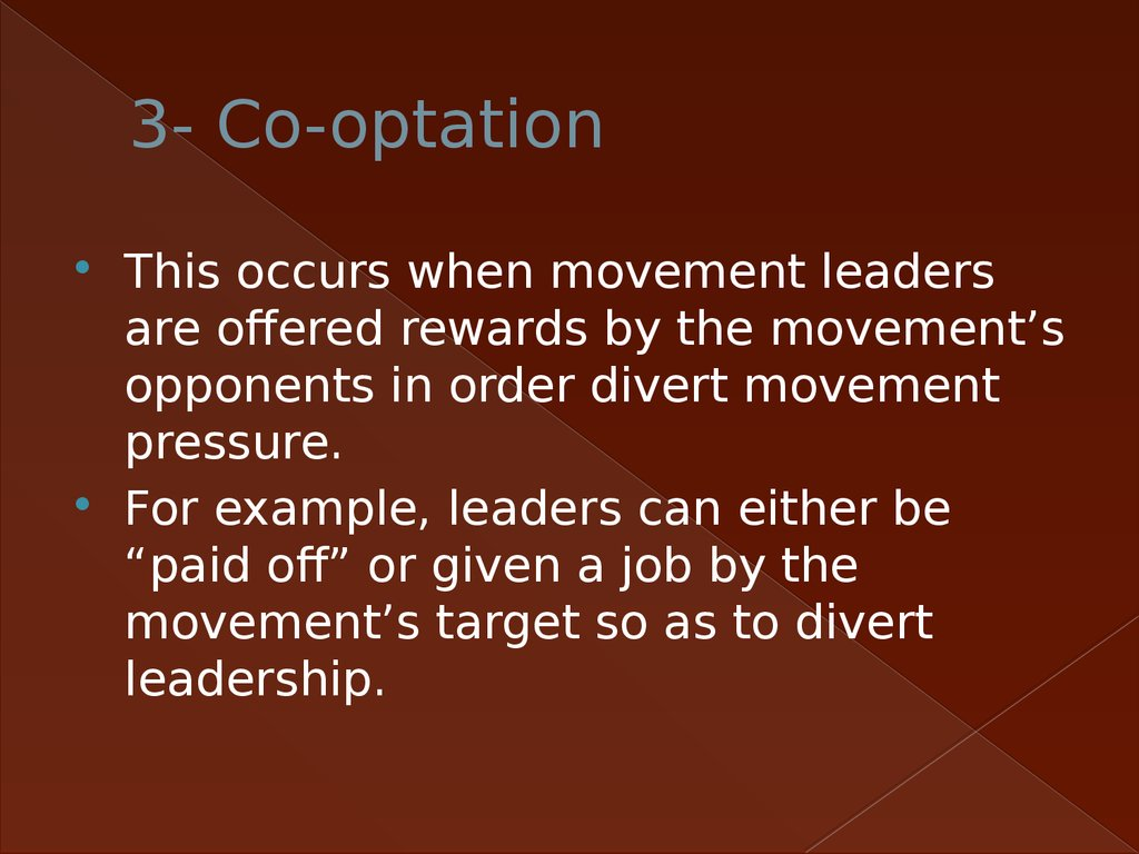 3- Co-optation