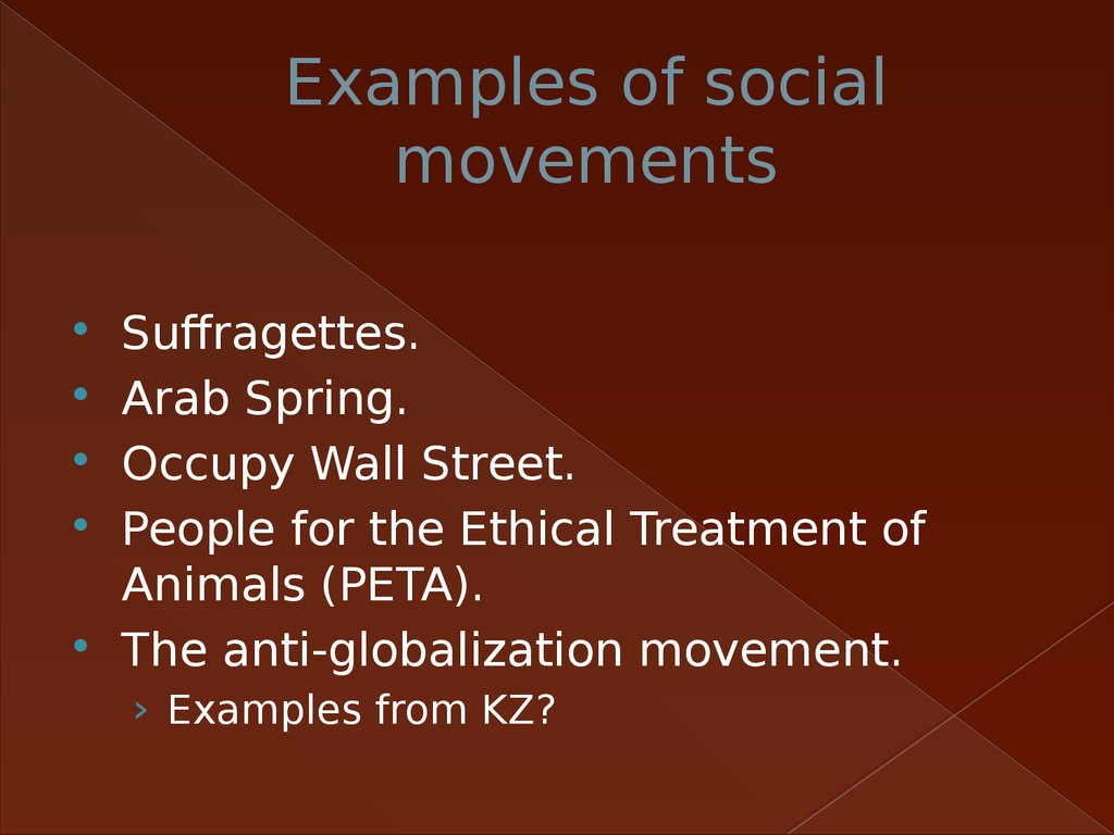 Examples of social movements