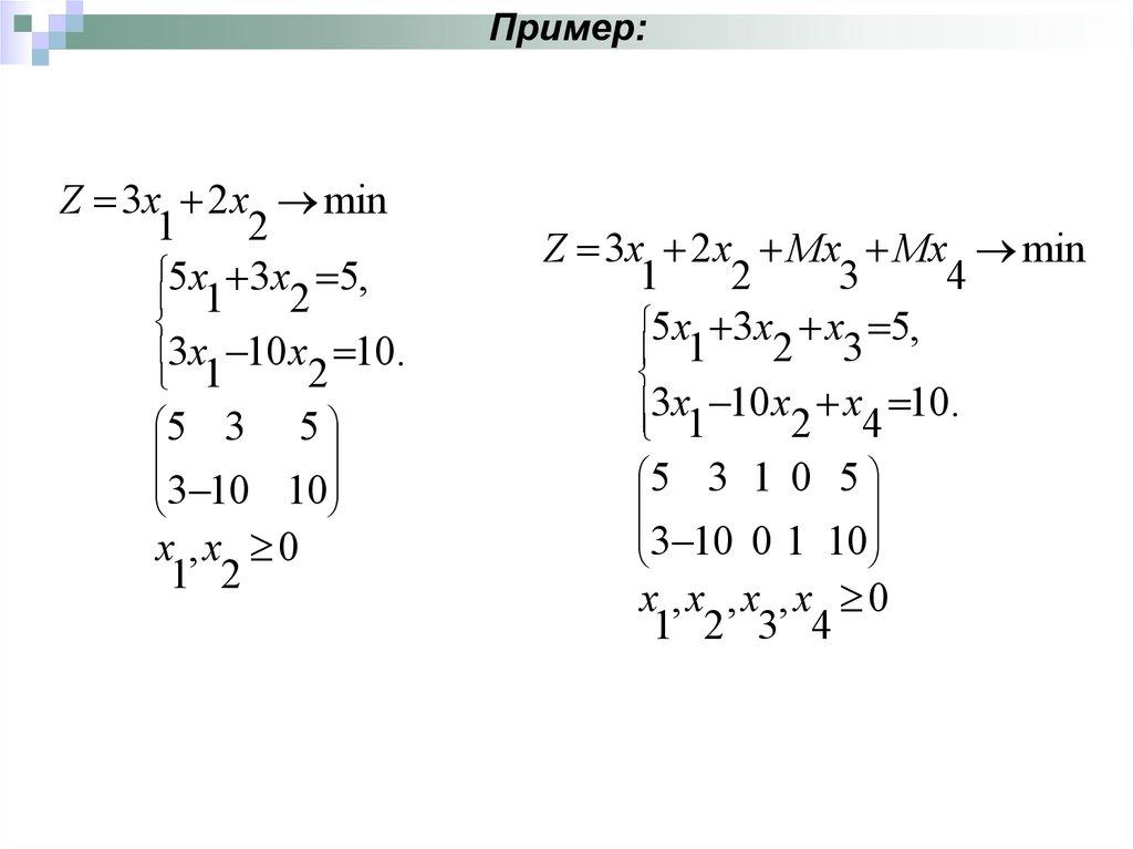 Решить методом искусственного базиса задачи онлайн mathcad решение задач оптимизации