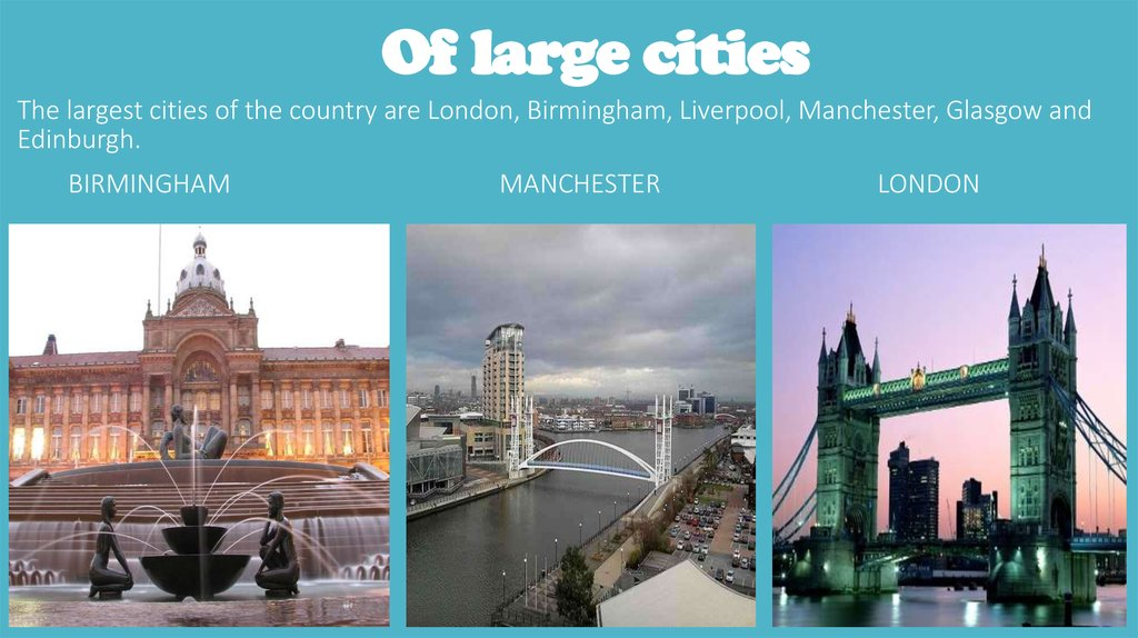 Of large cities