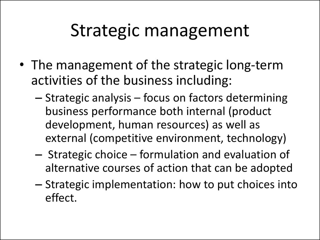 Introduction to business  Business strategy - online presentation