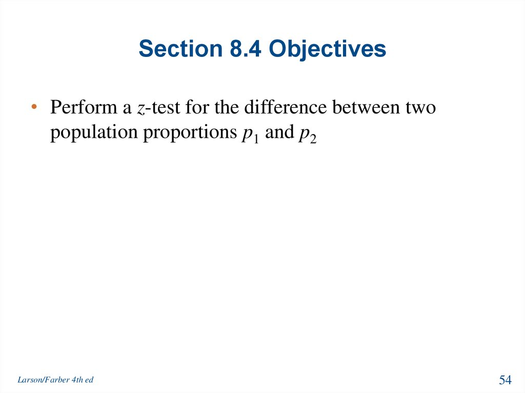 Section 8.4 Objectives