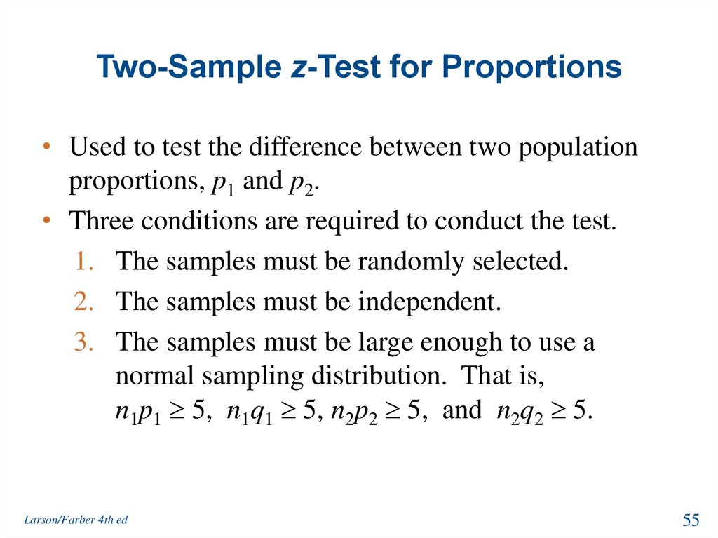 Two-Sample z-Test for Proportions