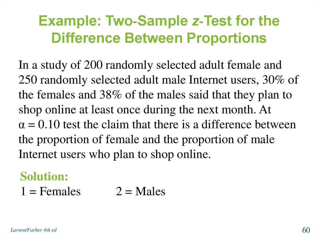Example: Two-Sample z-Test for the Difference Between Proportions