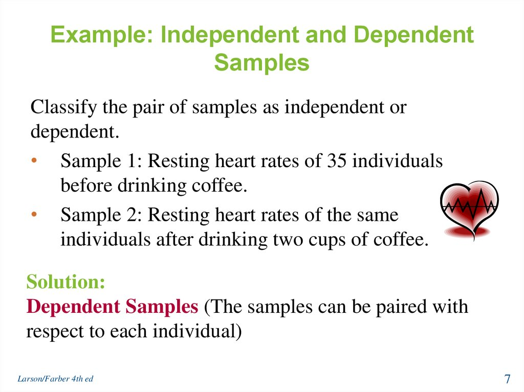 Hypothesis Testing with Two Samples - online presentation