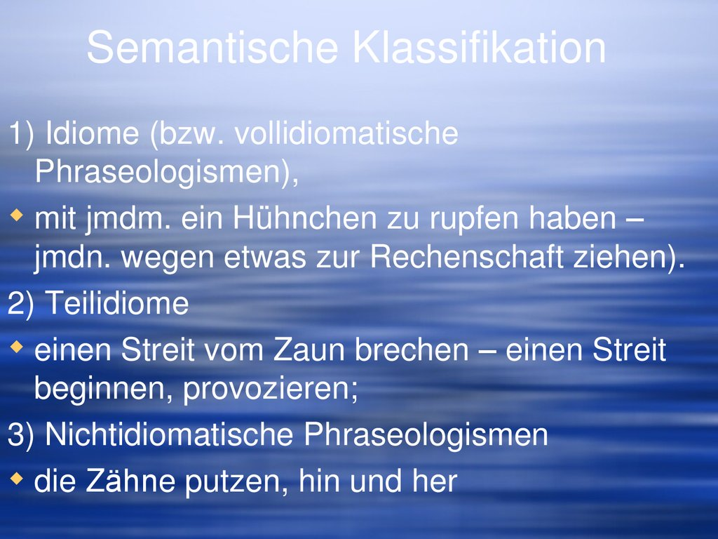 Semantische Klassifikation