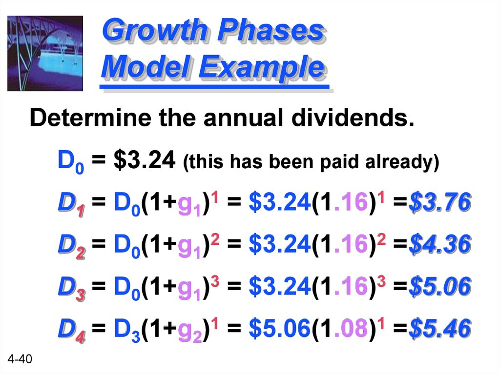 Growth Phases Model Example