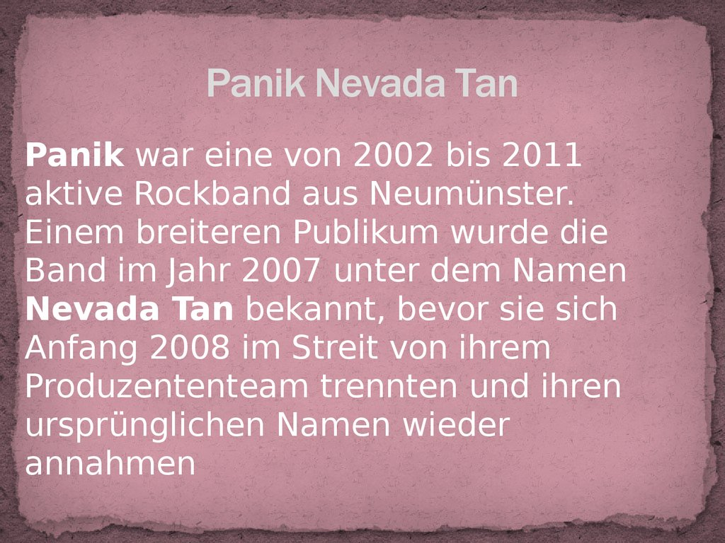 Panik Nevada Tan