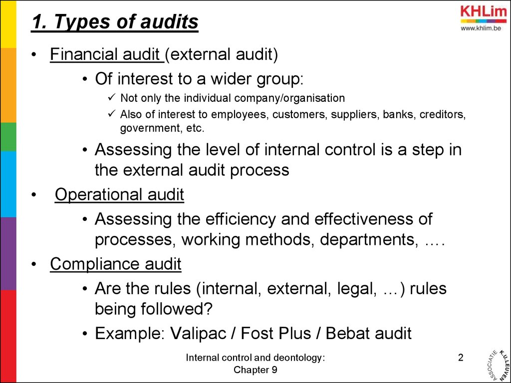 auditing and control Internal control and internal audit help business firms to keep an eye on the regular activities you could catch me at my professional website- financial auditing.