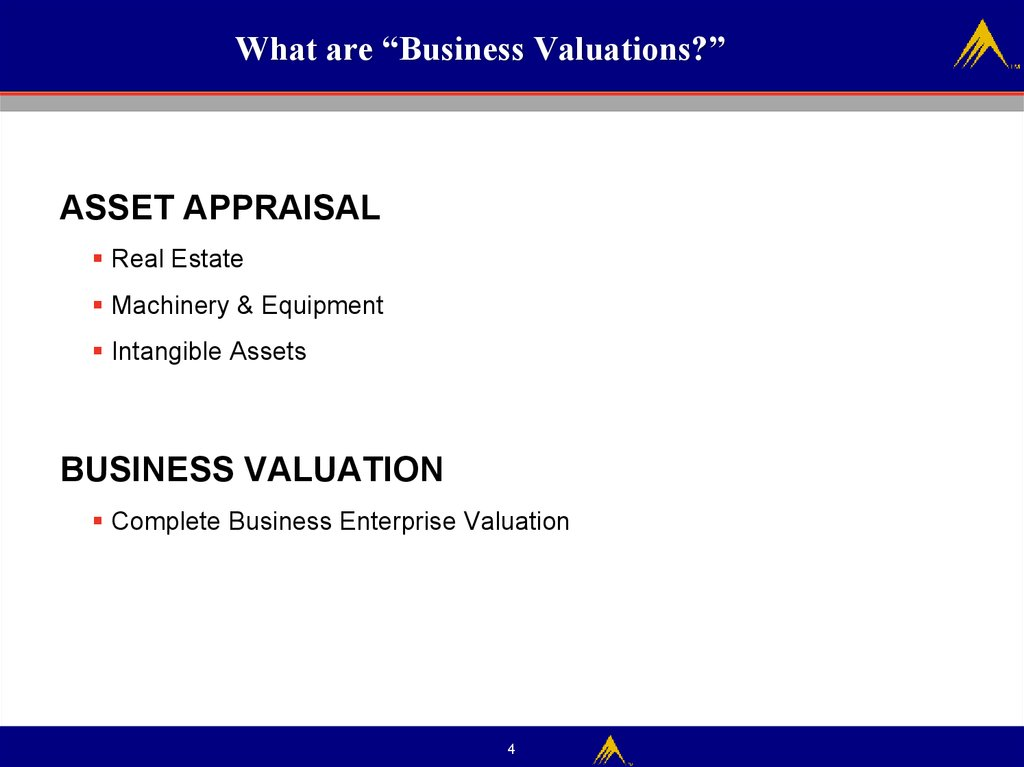 "What are ""Business Valuations?"""
