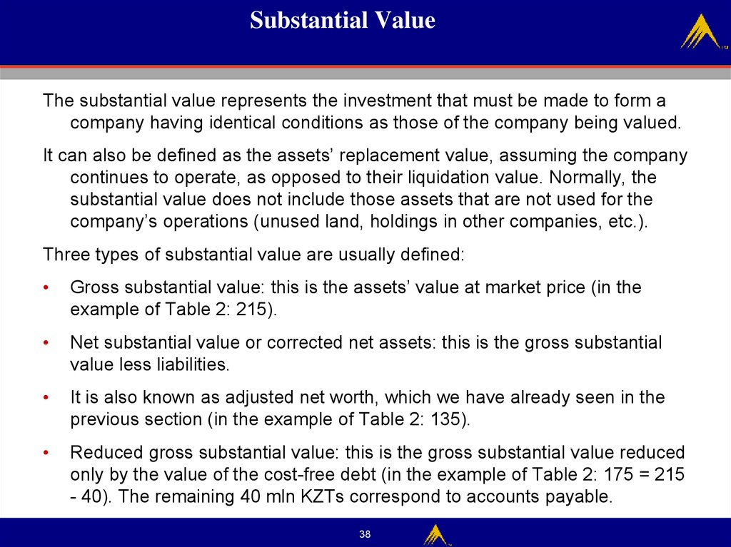 Substantial Value