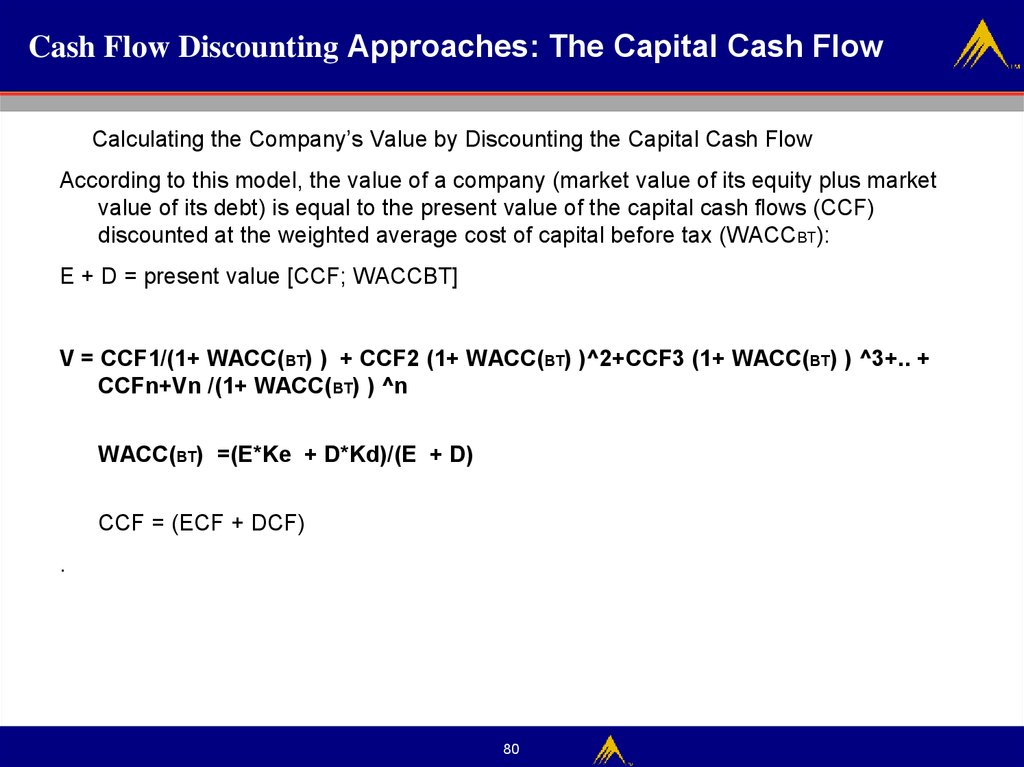 Cash Flow Discounting Approaches: The Capital Cash Flow