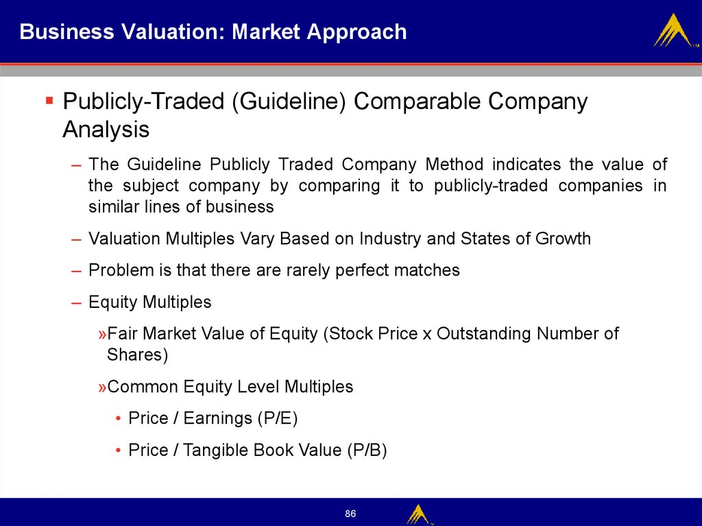 Business Valuation: Cash Flow Discounting Approaches