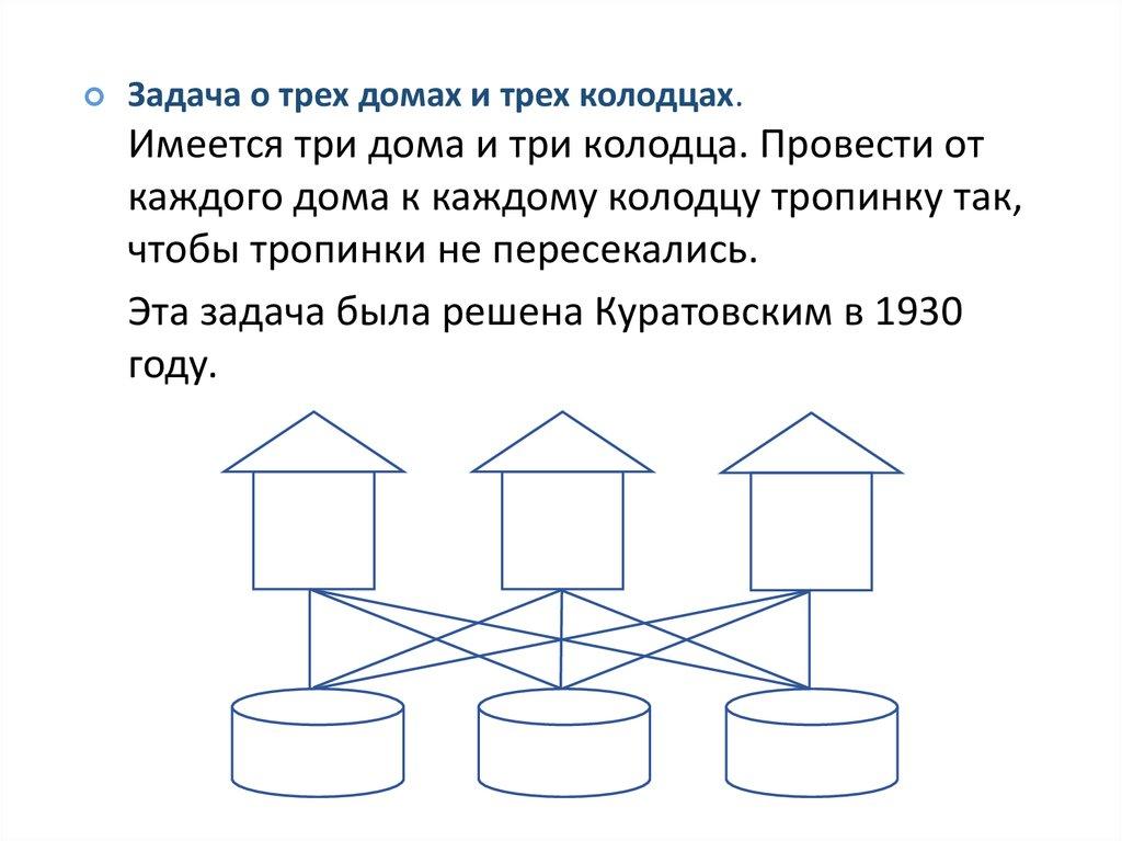 Как решить задачу 3 дома 3 колодца решите лингвистическую задачу даны слова болото