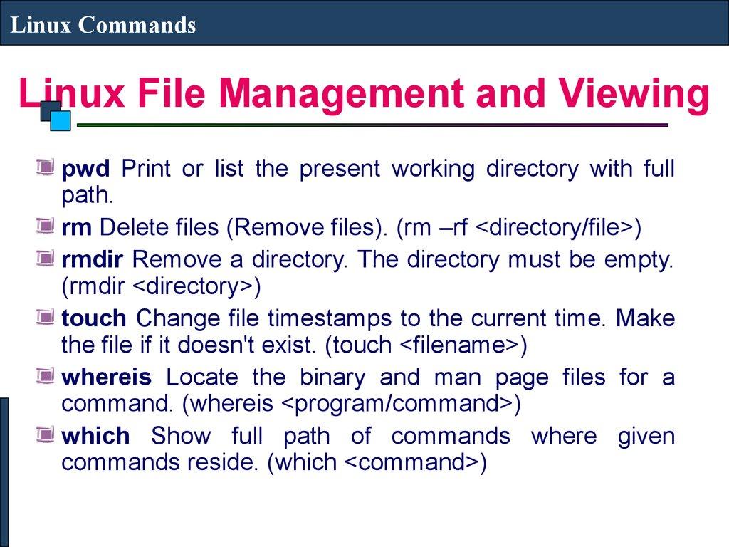 Linux Commands Prezentaciya Onlajn