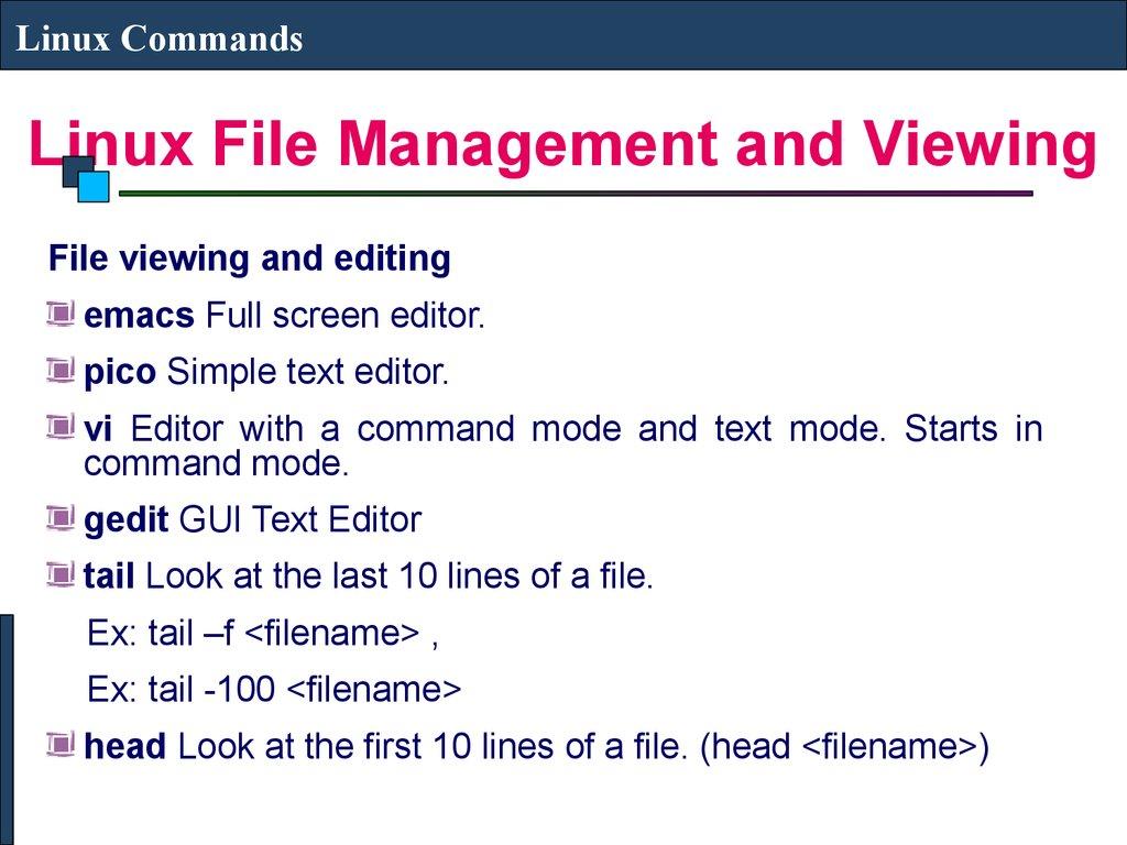 Linux Commands - online presentation